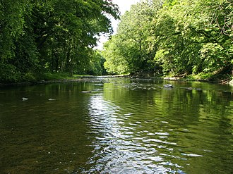 Neshaminy Creek - Throughout Bucks County, the Neshaminy Creek runs mainly through wooded areas.