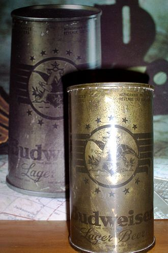 Anheuser-Busch - Anheuser-Busch produced olive-colored Budweiser cans during World War II.