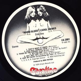 Caroline Records - Caroline label design in the UK