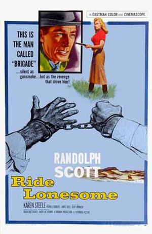 Ride Lonesome - Image: Ride Lonesome 1959 Poster