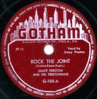 Rock the Joint - Image: Rock the Joint single cover