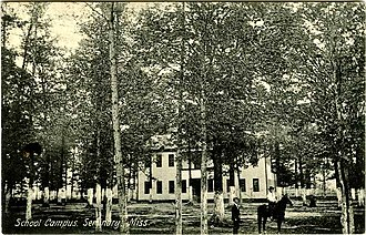 Seminary, Mississippi - Historic photo of a school campus in Seminary