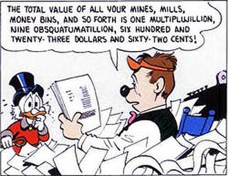 Scrooge McDuck - Valuation of Scrooge assets in Barks' The Second Richest Duck