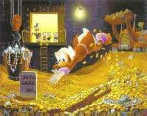 Scrooge McDuck - Scrooge's signature dive into money