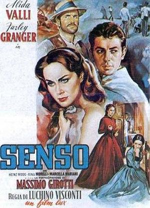 Senso (film) - Theatrical release poster by Renato Fratini