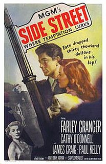 <i>Side Street</i> (1950 film) 1950 film by Anthony Mann