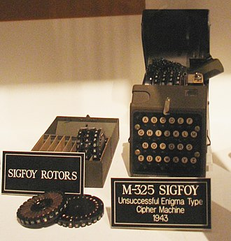 M-325 - The M-325 (SIGFOY) cipher machine was inspired by the German Enigma.