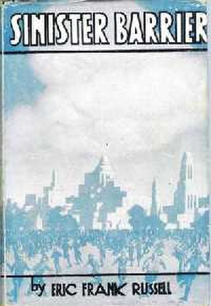 Sinister Barrier - Dust-jacket from the first edition