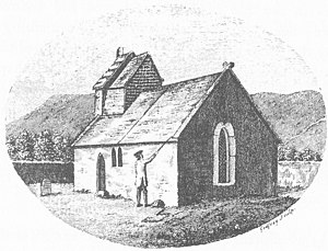 "St Lawrence, Isle of Wight - ""The Church at St Lawrence"", engraving by Richard Godfrey of Long Acre, c. 1780. Published in Worsley, Sir Richard, History of the Isle of Wight, London, 1781"