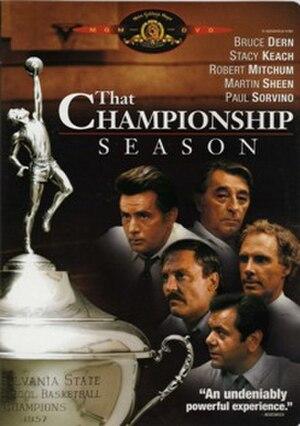 That Championship Season (1982 film) - DVD cover for That Championship Season (1982)