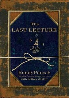 <i>The Last Lecture</i> Book by Jeffrey Zaslow and Randy Pausch