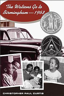 <i>The Watsons Go to Birmingham – 1963</i> book by Christopher Paul Curtis