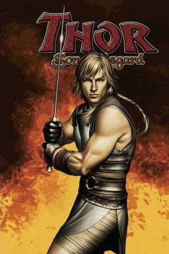 Thor: Son of Asgard - Cover to Thor: Son of Asgard: The Warriors Teen trade paperback.