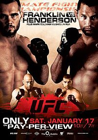 A poster or logo for UFC 93: Franklin vs. Henderson.