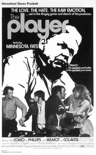 """Rudolf Wanderone - Promotional poster for The Player (1971) starring Wanderone as """"Fats""""."""
