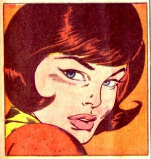 "Wasp (comics) - The ""Winsome Wasp"" depicted by John Buscema as a 1960s glamor girl."