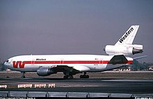 Western McDonnell Douglas DC-10 at LAX, May 1977.jpg