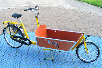 Freight bicycle - Modern long-wheelbase freight bicycle from Amsterdam