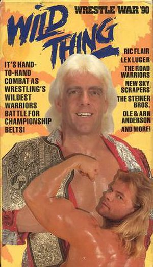 WrestleWar (1990) - VHS cover featuring Ric Flair and Lex Luger