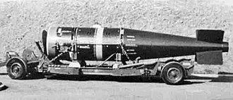 Yellow Sun (nuclear weapon) - A Yellow Sun-cased bomb on its trolley