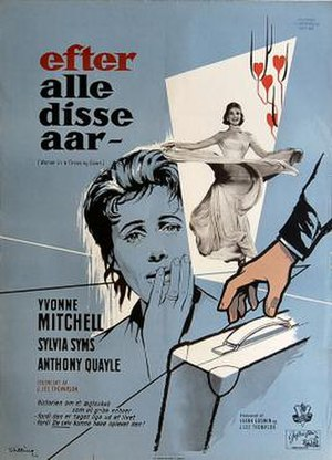 Woman in a Dressing Gown - Danish poster