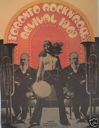 Toronto Rock and Roll Revival - Toronto Rock and Roll Revival 1969, the original 1969 concert poster