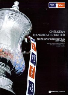 2007 FA Cup Final Football match between Chelsea and Manchester United