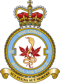 No. 92 Squadron RAF Flying squadron of the Royal Air Force