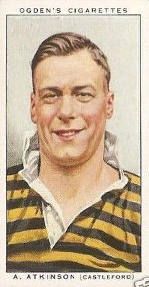 Arthur Atkinson (rugby league) - Ogden's cigarette card featuring Atkinson