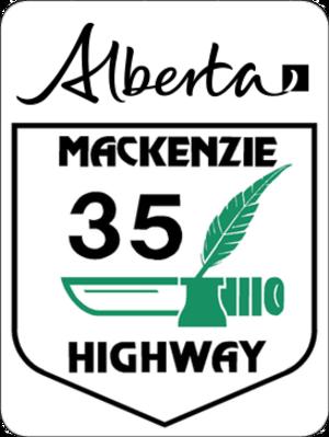 Mackenzie Highway - Image: Alberta Highway 35 (Mackenzie)