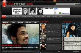 AllHipHop - Image: Allhiphop screenshot