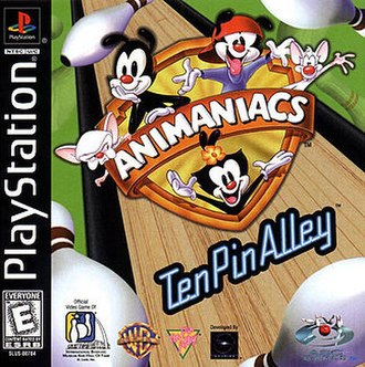 Animaniacs: Ten Pin Alley - North American PlayStation cover art