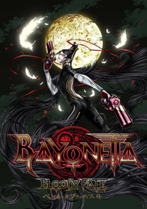 Bayonetta: Bloody Fate - Promotional poster featuring the main protagonist, Bayonetta.