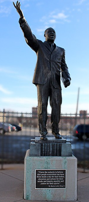 Dr. Martin Luther King Jr. (Blome sculpture) - Image: Blome Dr Martin Luther King Jr 1998