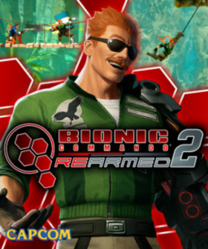 Bionic Commando Rearmed 2 - Official game art featuring the game's protagonist, Nathan Spencer