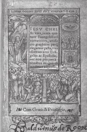 Gospel harmony - Image: Branteghem Gospel harmony Antwerp 1537