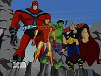 Screen capture from the avengers earth s mightiest heroes episode