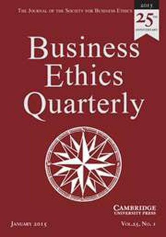 Business Ethics Quarterly - Image: Business Ethics Quarterly (BEQ) journal cover