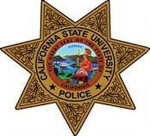 California State University police departments - Image: California State University Police Department Badge