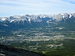 Canmore from Mount Lady Macdonald