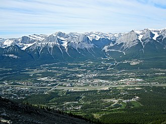 Canmore, Alberta - Canmore from Mount Lady Macdonald