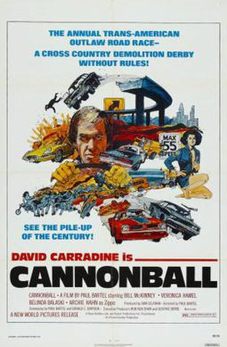 Cannonball (film) - Film poster for Cannonball