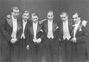 "Comedian Harmonists - Comedian Harmonists (from left: Robert Biberti, Erich Collin, Erwin Bootz, Roman Cycowski, Harry Frommermann, Asparuh ""Ari"" Leschnikoff)"