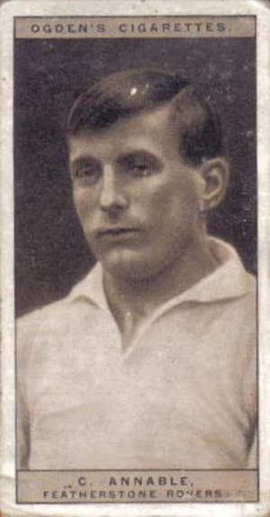 Charles Annable - Ogden's Cigarette card featuring Charles Annable