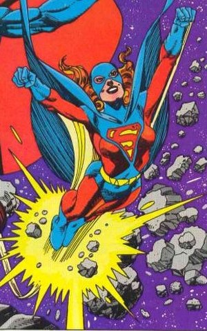 Superwoman - Superwoman (Kristin Wells). Art by Gil Kane, 1983.