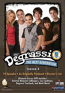 <i>Degrassi: The Next Generation</i> (season 6) season of television series