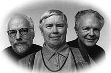 from left to right: David Gamper, Pauline Oliveros, Stuart Dempster
