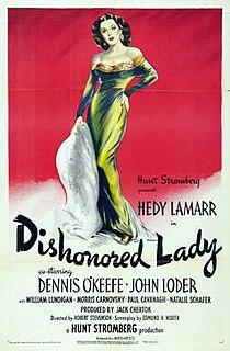 <i>Dishonored Lady</i> 1947 film by Robert Stevenson, Hunt Stromberg, Jack Chertok