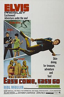<i>Easy Come, Easy Go</i> (1967 film) 1967 music film comedy from the United States directed by John Rich