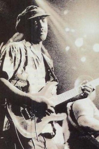 Eddie Hazel - Eddie Hazel performing with the P-Funk All Stars at the Palladium in NYC on June 25th, 1991. Photo by Aldo Mauro